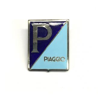 Piaggio Porcelain Badge W/Clips 1950's