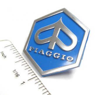 Piaggio Badge Blue/Silver