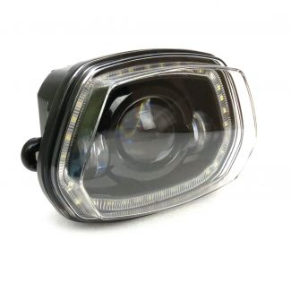 BLACK LED HEADLIGHT W/HALO RING VESPA SPRINT 3V 150