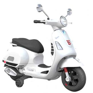 Vespa Ride On GTS 300 Kid's Scooter in White (Officially Licensed by Piaggio)  SPECIAL ORDER