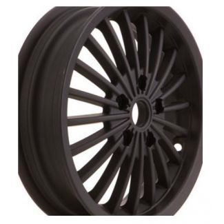 """*MATTE BLACK WITH POLISHED EDGE* 12"""" SIP STYLE 20-SPOKE WHEEL FITS GTS/GTS/SUPER 300"""