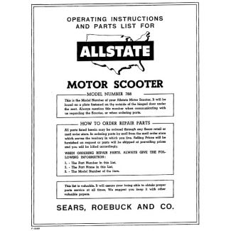 788.94492 VA8T (1957) ALLSTATE PARTS BOOK