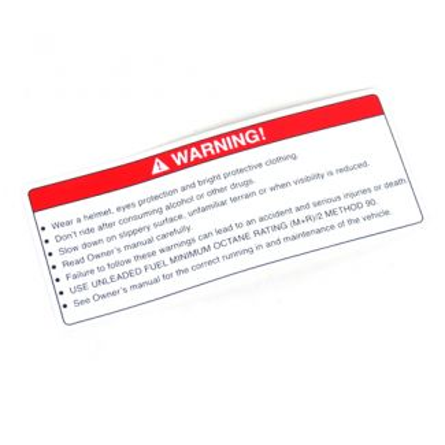 Warning Label - Wear a Helmet All USA Vespa/Piaggio