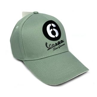 VESPA SEI GIORNI BASEBALL CAP HAT **LIGHT GREEN** (606677M)