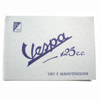 1951 to 1952 Vespa 125 Owners Manual