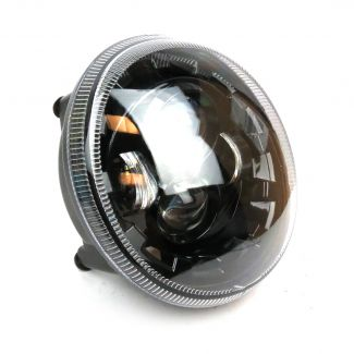 LED BLACK PROJECTOR HEADLIGHT W/RUNNING LIGHT VESPA GTS SUPER (WILL ALSO WORK FOR GT200 AND GTS)