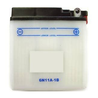 6N11A-1B 6 Volt 11Ah Battery For Most 60's-70's Vespas 6-Volt (350617)