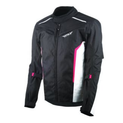 Fly Racing Street Baseline Jacket Black/White/Red