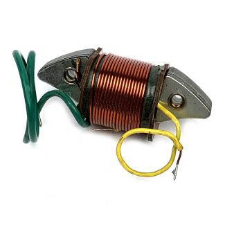 60'S VESPA LIGHTING COIL LONG GREEN SHORT YELLOW & TWO GROUNDS