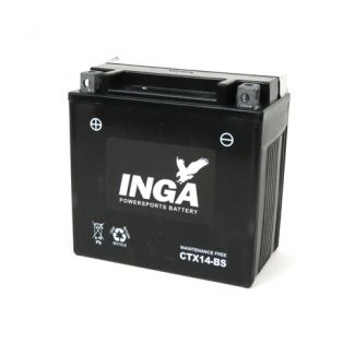 Aftermarket CTX14-BS Battery 12 VOLT 12Ah 250cc-500cc Piaggio Scooters (638733)