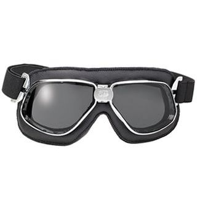 Nannini Cruiser Leather Goggles Black Smoke