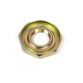 TOP (UPPER) BEARING RACE OF UPPER STEERING BEARING ASSEMBLY (RING NUT W/ THREADED COLLAR AND RACE) - BUDDY 50/125/170