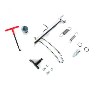 DELUXE ORIGINAL PIAGGIO CHROME SIDESTAND KIT FOR 2014 AND NEWER GTS/SUPER/GTV