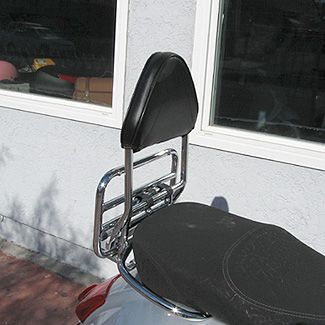 GTS Rear Back Rest Cuppini (Fits on Stock Rack)