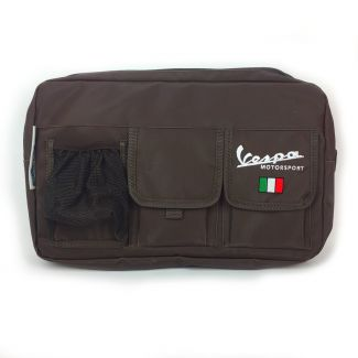 GLOVE BOX BAG BROWN VESPA GTS 200-300  **SCOOTERWEST EXCLUSIVE**