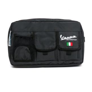 GLOVE BOX BAG BLACK VESPA GTS 200-300  **SCOOTERWEST EXCLUSIVE**