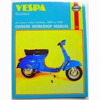 Haynes Service Manual For 1959-1978 Vespa Scooters