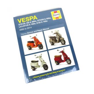 Haynes General Repair Manual Vespa GTS-GTV-Super 300 & 150 LX-LXV-S