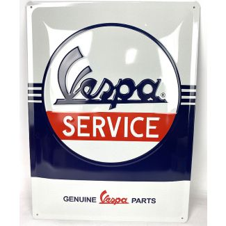 """VESPA SERVICE METAL SIGN 12"""" X 16"""" MADE IN GERMANY"""