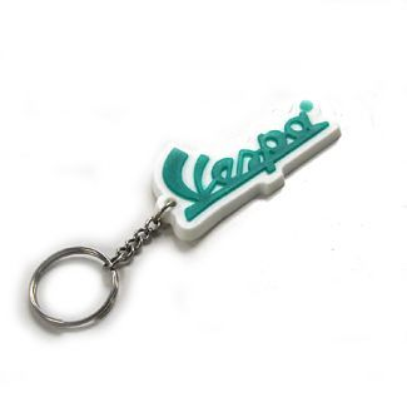 Vespa Script Key Chain GREEN