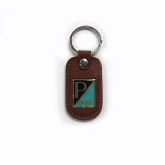 PIAGGIO LEATHER KEYCHAIN BROWN