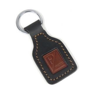 PIAGGIO LEATHER KEY CHAIN BLACK AND BROWN