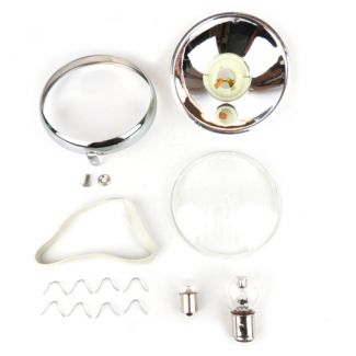 Complete Headlight Assembly w/ PLASTIC Lens & Bulbs VNA-VNB1