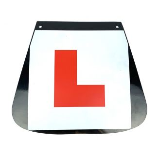 "MUD FLAP LEARNER'S ""L"" (MADE IN THE U.K.) (9.25"" WIDE x 8"" TALL)"