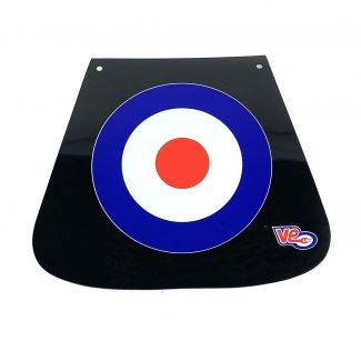 "MUD FLAP MOD TARGET (MADE IN THE U.K.) (9.25"" WIDE x 8"" TALL)"