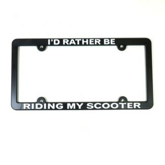 I'D RATHER BE RIDING MY SCOOTER Car License Plate Frame