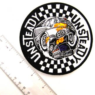 Unsteady Round Patch - Hot Rods and Checkers