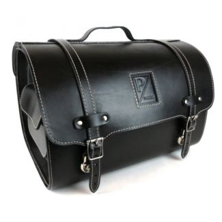 **BLACK** Leather Piaggio Bag/Topcase