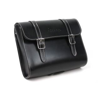 Universal Black Leather Vespa Pouch