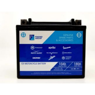BATTERY PIAGGIO BRANDED OEM PTX7L-BS (12V 6AH) Same as YTX7LBS Vespa Primavera/Sprint 50-150 (584662)