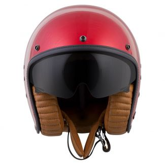 SCORPION BELFAST EXO OPEN FACE HELMET CANDY RED (WITH VISOR)