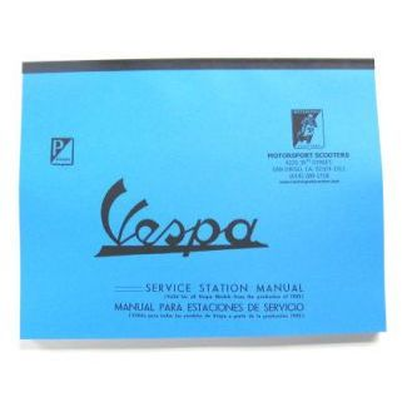 Vintage Service Manual For Vespa 125 VNA