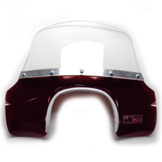 Vintage Mod Flyscreen for Trapezoid Headlight GL-SS RED