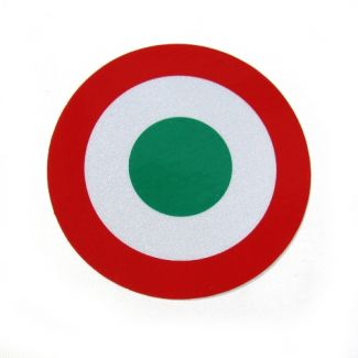 Italian Mod Target Sticker Reflective 2.5 Inches