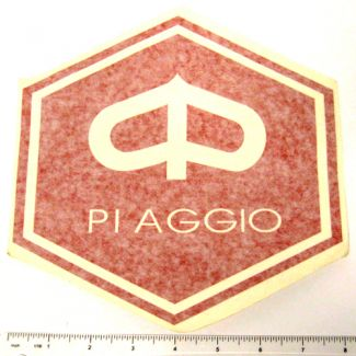Piaggio Hex Sticker Large in Green
