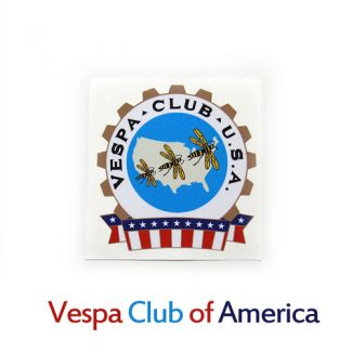 Vespa Club of America VCOA Official Club Sticker
