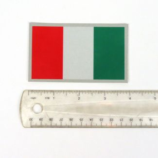 "ITALY FLAG REFLECTIVE DECAL (2.375 x 4"")"
