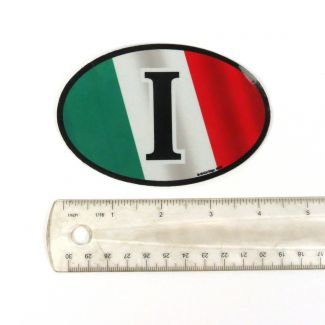 "ITALY REFLECTIVE OVAL WITH ""I"" (4.5 x 3"")"