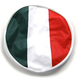 10 Inch Wheel Spare Tire Cover with ITALIAN FLAG