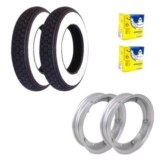 Deluxe Premium Tire Kit **CONTINENTAL WHITE WALL** P/PX/Sprint/GL/Rally