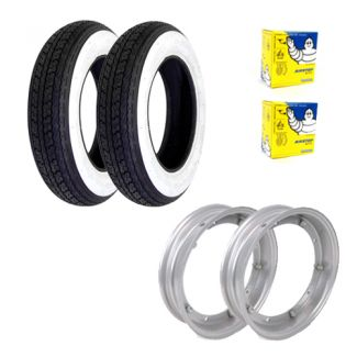 Deluxe Premium Tire Kit **SHINKO WHITE WALL** P/PX/Sprint/GL/Rally