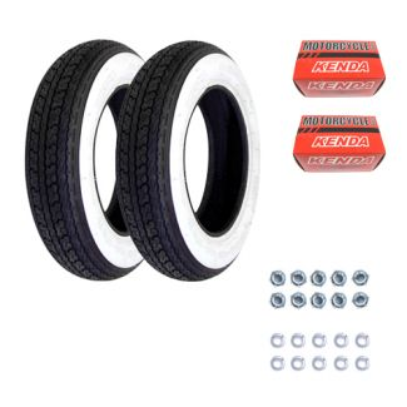 Tire Kit **Shinko White Wall** Vespa Smallframe