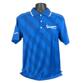 Vespa Motorsport Embroidered Polo Blue