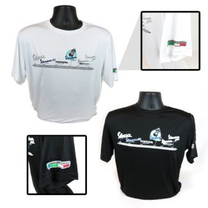 Short Sleeve 'Vespa Timeline' Shirt White