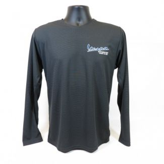 Vespa Motorsport Embroidered Long Sleeve Shirt CHARCOAL