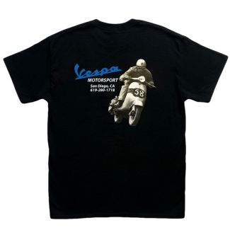 Vespa Motorsport Retro Shop T-Shirt MEN'S